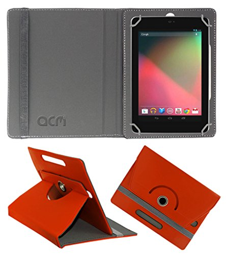 Acm Rotating 360° Leather Flip Case for Asus Google Nexus 7 Cover Stand Orange  available at amazon for Rs.149