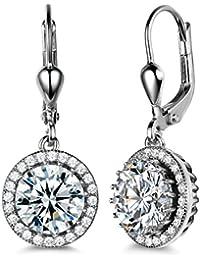 GULICX Hallow Teardrop Fishhoop Dangle Earrings 925 Sterling Silver Women Jewellery