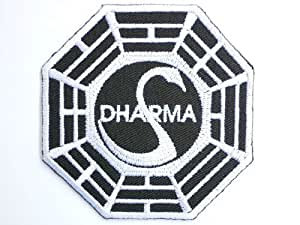 DHARMA Lost Ying Yang patch Iron on Sew Applique Embroidered patches