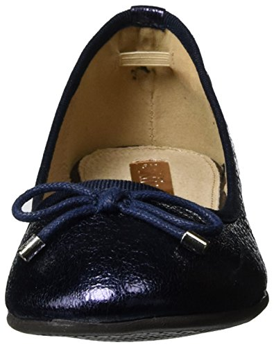 XTI Damen Navy Metallic Ladies Shoes Geschlossene Ballerinas Blau (Navy)