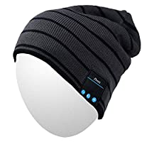 Qshell Cappello musica con la cuffia senza fili Bluetooth auricolare stereo  speaker mani Mic libera bf73a417041c