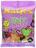 Katjes Glücksgefühle – Vegetarische Fruchtgummi Süßigkeiten in vielen Formen und Farben – Leckeres Weingummis mit Lakritz als Glücksbringer (20 x 200 g)