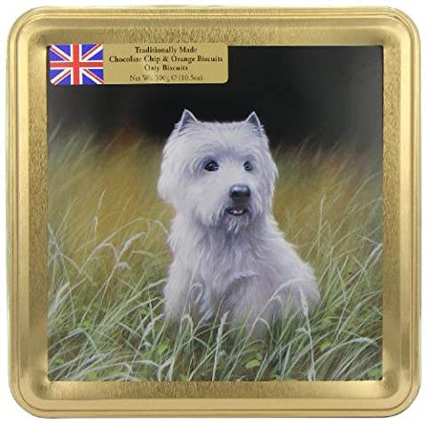 Grandma Wild's Scottie Dog Embossed Biscuit Tin with Chocolate Chip