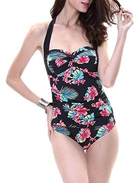 Costume da bagno delle signore Swimwear Siamese pieghevole Bikini Beach Swimwear Spa Costume da bagno Bikini (...