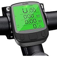 Splaks Cuentakilómetros para Bicicleta de múltiples Funciones, Impermeable,Pantalla retroiluminada, Gran LCD Pantalla
