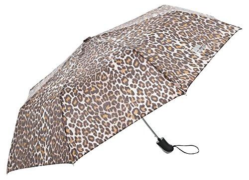 Trespass Maggiemay, Leopard Print, Regenschirm mit Schutzhülle, Braun