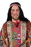 Indianer-Kostüm braun für Herren   Größe: 46-48   2-teiliges Western Outfit für Erwachsene   Apache Faschingskostüm für Männer   Häuptling Verkleidung für Karneval & Themen-Partys -