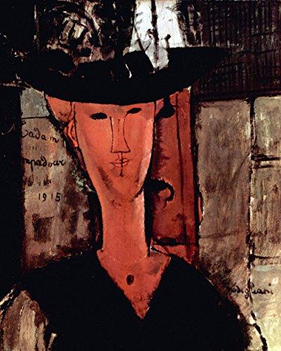 Das Museum von Ausgang-Modigliani-Lady mit Hut-Poster A3