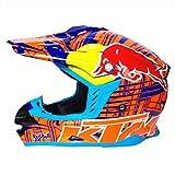 Wenyan MX-Motorradhelm Für Erwachsene ATV-Roller ATV-Helm D.O.T-Zertifizierter Helm (M, L, XL, XXL),M(57~58CM)
