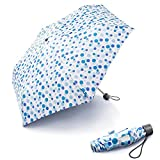 Taschenschirm boy® Mini Regenschirm Für Mädchen und Jungen Kinderregenschirm,klein, leicht & kompakt Regenschirm für Frauen,Wellenpunkt,Blau