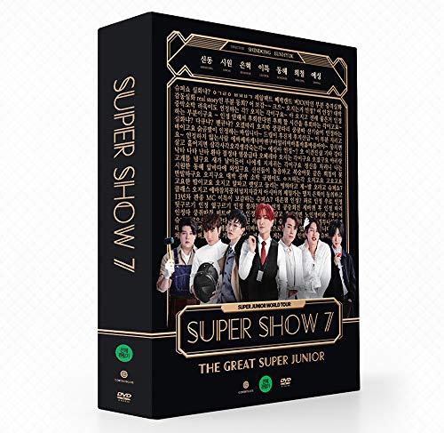 SM Entertainment SUPER JUNIOR - SUPER Show 7 2DVD+Photobook+8Photocard+Double Side Extra Photocards Set