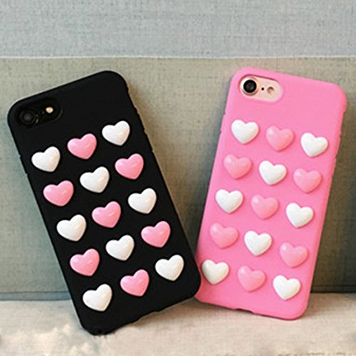 YAN Für iPhone 6 Plus / 6s Plus, 3D Love Candy Full Coverage Schutzmaßnahmen Rückseite Cover Soft Case ( Color : Pink ) Black
