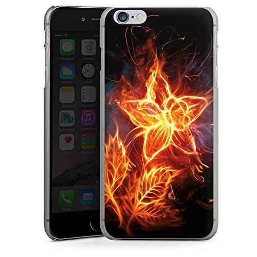 Apple iPhone X Silikon Hülle Case Schutzhülle Feuer Blume Pflanze Hard Case anthrazit-klar
