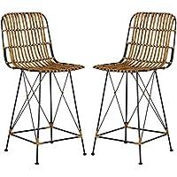 chaises de bar rotin cuisine maison. Black Bedroom Furniture Sets. Home Design Ideas