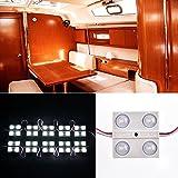 LED Auto Innenbeleuchtung,LTPAG 10x4 Lampe Interior Licht Leseleuchte LED Panel Kits Module Wasserdicht Weiß 12V für Camper Van Caravan Schränke Schiff Trailer LKW HGV PKW LKW Zubehör