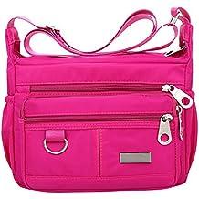 ZODOF Bolso Bandolera Mujer Impermeable Bolsa de Hombro de Nylon Messenger Bag Bolsos de Moda Bolsas