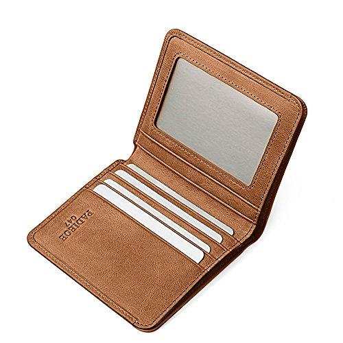 Padieoe 100% raccoglitori del cuoio primo strato genuina per gli uomini, alla moda di buona qualità (marrone) - QB160630-2 marrone