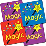 """Primary Teaching Services B30 16 mm """"Mixed Magic Wand"""" Square Stickers (Sheet of 140)"""