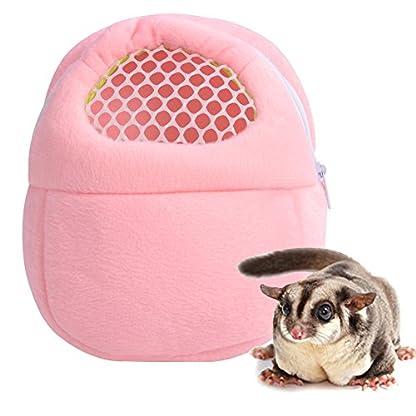 Yosoo 1 PCS White Mesh Portable African Hedgehog Hamster Breathable Pet dog Carrier Bags Handbags Puppy Cat Travel… 7