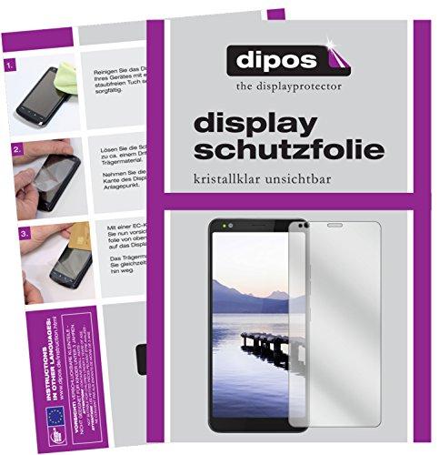 dipos I 2X Schutzfolie klar passend für Gigaset GS370 Plus Folie Bildschirmschutzfolie