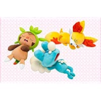 2015 one's first dream of the New Year Set Chespin & Fennekin & Froakie Plush Doll by Pokemon Center