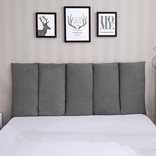 Bett kopfteil Rückenkissen Keilkissen Rückenlehne Für Bett Kissen Ohne Kopfteil An Die Wand Kleben Verhindere Den Schlagenden Kopf Schlafzimmer, 10 Feste Farben, 5 Größen Wahlweise