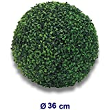 Fire4u - Bola de boj artificial, planta para decoración, 35cm de diámetro, para interior y exterior