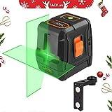 Livella laser, Tacklife SC-L07G 30m Livellatrice crossover autolivellante, linea laser orizzontale/verticale a 110 °, IP54, supporto magnetico