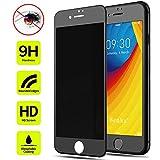 Protector Pantalla iPhone 7 Plus 8 Plus Privacidad, BENKS Anti espía Cristal Templado Cobertura Completa Dureza 9H Anti-ralladuras para Apple iPhone 8 Plus (Negro para el iphone 7 Plus 8 Plus- 5,5 ' )