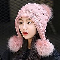 Wenxin0815 Weibliche Freizeitaktivitäten Alle-Match Strickmütze Mütze Winter Hat