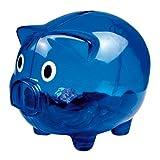 Sparschwein - Spardose - Kunststoff transparent blau