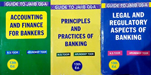 CONBO SET FOR JAIIB 3 BOOKS SET ( LEGAL , PRINCIPLES AND ACCOUNTING ) NEW 13TH, EDITION 2018