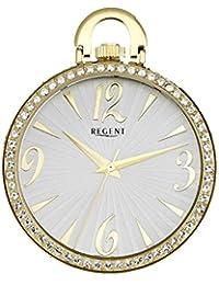 Regent - Lady's Fashion Strass Umhängeuhr mit 2 Ketten - Quarz - Gold - P243