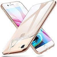ESR Funda iPhone 8 /iPhone 7 Carcasa Suave TPU Gel [Ultra Fina] [Protección a Bordes y Cámara] [Compatible con Carga Inalámbrica] –Transparente