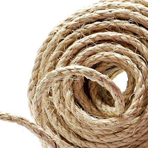 Cuerda de cáñamo Naler de 25 m 6 mm, 100% yute natural,...