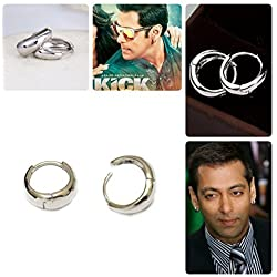 Multiline Company ÿSalman Khan Inspired Kaju Bali Hoop Earrings For Menÿ