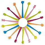 WOCLHJ - Penne a sfera creative, a forma di mano, pieghevoli, 12 pezzi. Giocattoli per bambini curiosi, cancelleria per la scuola o per l'ufficio.