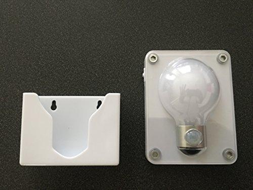 Spécial Wc éclairage pour la nuit : Lampe à led Détecteur de mouvement et détachable. Idéal pour les WC, un couloir, un placard, la cave, le garage, etc. Piles fournies