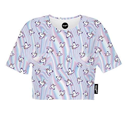 Fringoo Damen Top mehrfarbig mehrfarbig One size Holo Unicorn Multi - Tee