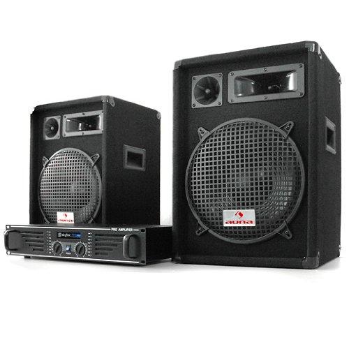 DJ PA Komplettset Marrakesch Lounge Verstärker 2X Boxen