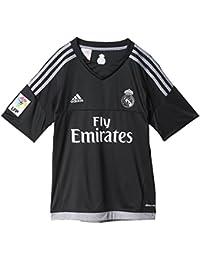 Adidas Equipación Real Madrid CF - Camiseta oficial adidas de portero para niños, Negro /