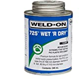 WELD ON 725 WET R DRY PVC-U PLASTIC PIPE CEMENT (FREE DELIVERY)