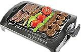 BBQgrill | Tischgrill | ELEKTRO GRILL | Partygrill | elektrischer Grill | BBQ Elektrogrill | 2000 W. | Cool Touch Griffe | Rauchfrei (Elektro Grill)