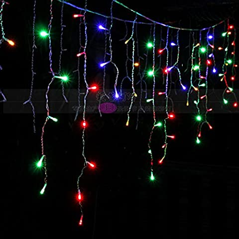 Illuminazione per esterni per case Natale Decorazioni Patio luci LED tensione 220V,Colore 4 m ghiacciolo luce