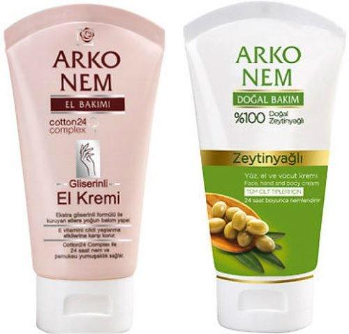 Arko-Intensive Pflege Cremes Glyzerin &% 100natürlichem Olivenöl für trockene Skins 2x 75ml Tuben * * * Kostenlose Lieferung * * *