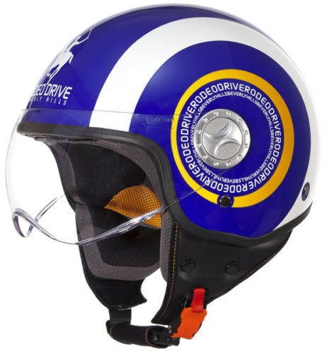 CASCO JET RODEO DRIVE RD105 AZUL/BLANCO XL