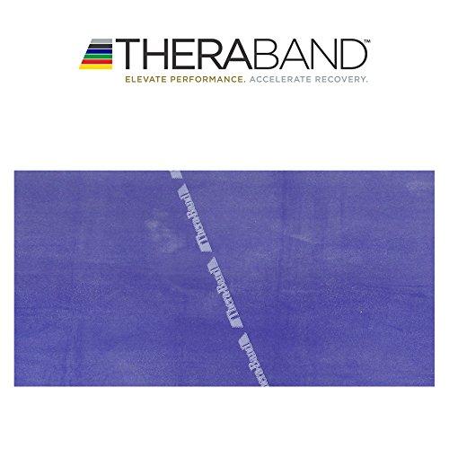 #Thera-Band® original Übungsband + Übungsbuch gratis (blau (extra stark))#