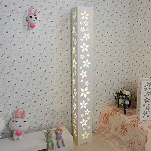 ELINKUME LED Stehleuchten Moderne Stil Warmweiß Blumenmuster 18W 5730 LED SMD Leuchtmittel Nachttischlampe Fuß Schalter AC220V-240V
