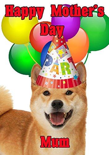 Shiba Inu Hund Happy Mother 's Day Party Hat Karte chmd275personalisierbar Grüße