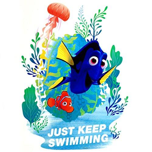 alles-meine.de GmbH großes - XL - Fensterbild -  Disney Findet Nemo - Fisch Dory  - 37 cm - statisch haftend - selbstklebend + wiederverwendbar / Sticker Fenstersticker Aufkleb.. -